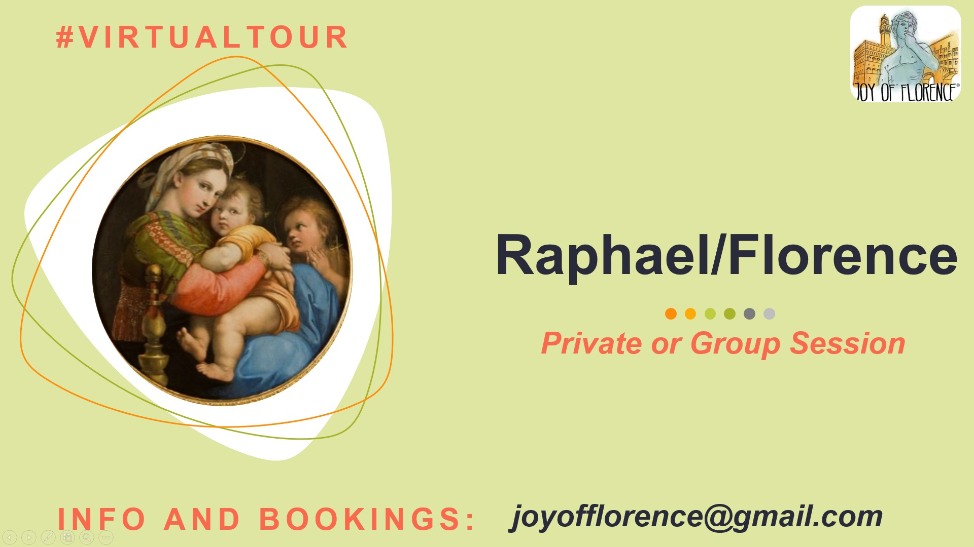Raffaello virtual tour in Florence